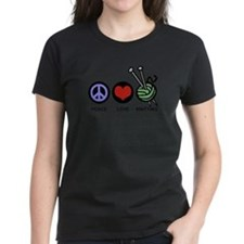 Peace Love Knitting Tee