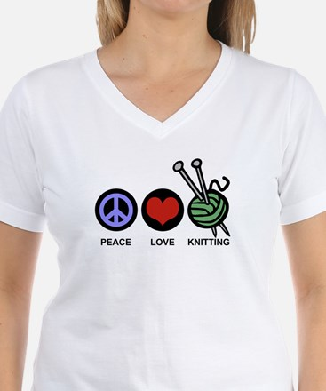 Peace Love Knitting Shirt