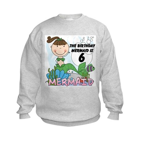 Mermaid 6th Birthday Kids Sweatshirt