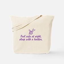 Funny Knitting Tote Bag