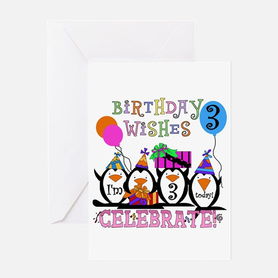 Silly Penguins 3rd Greeting Card