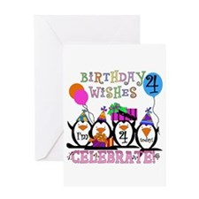 Silly Penguins 4th Greeting Card