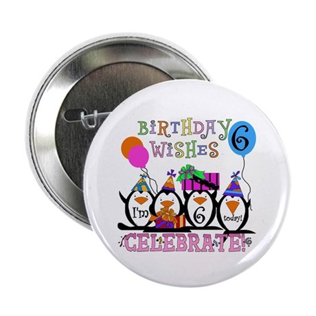 """Silly Penguins 6th 2.25"""" Button"""