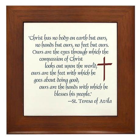 St. Teresa of Avila Quote Framed Tile