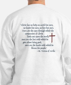(BACK) St. Teresa of Avila Quote Sweatshirt