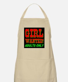 Girl Wanted! Adults Only BBQ Apron
