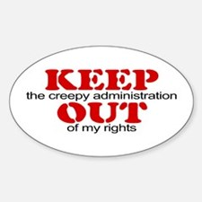 Keep out ... rights Oval Decal