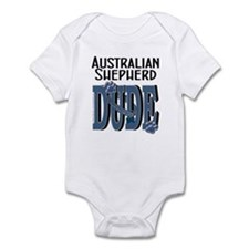 Australian Shepherd DUDE Infant Bodysuit