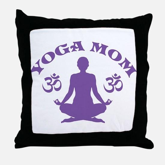 Yoga Mom Throw Pillow