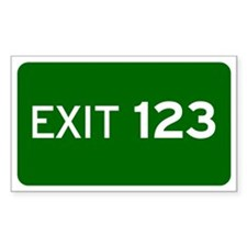 EXIT 123 Decal