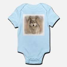 """Bright Eyes"" Wolf Apparel Infant Creeper"