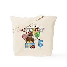 Bear 5th Birthday Tote Bag