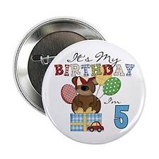 "Bear 5th Birthday 2.25"" Button"