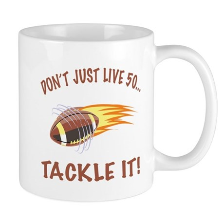 Tackle 50 Football Bday Mug