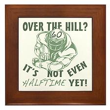 Halftime 60 Football Bday Framed Tile