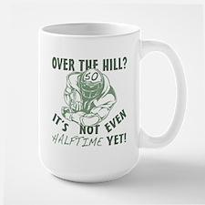 Halftime 50 Football Bday Large Mug