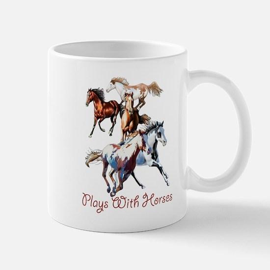 Plays With Horses Mug
