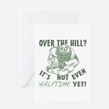 Halftime 40 Football Bday Greeting Card