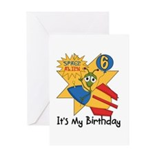 Space Alien 6th Greeting Card