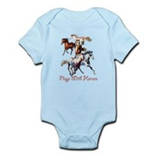 Plays With Horses Infant Bodysuit