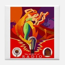 Spirit of Radio Tile Coaster