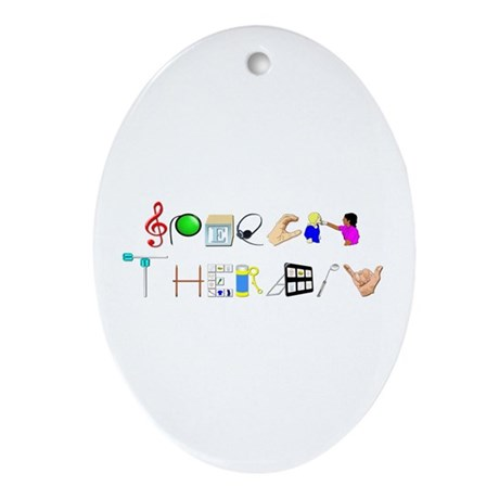Speech Therapy Ornament (Oval)