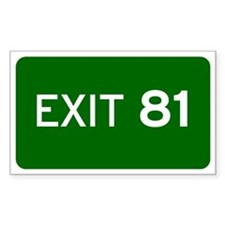 EXIT 81 Decal