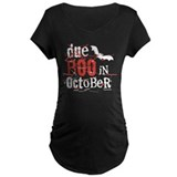 Mum to be october Maternity T-shirts (Dark)