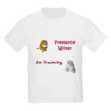 Freelance Writer in Training Kids T-Shirt