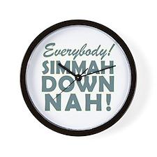Funny SNL Simmah Down Nah Wall Clock