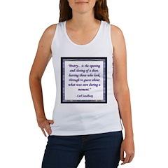 Sandburg Quote Women's Tank Top