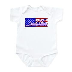 Infidel American Patriotic Infant Creeper