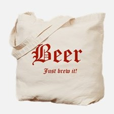 BEER Just Brew It! Beer Lover Tote Bag