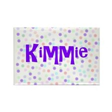 Kimmie Flower Power Rectangle Magnet