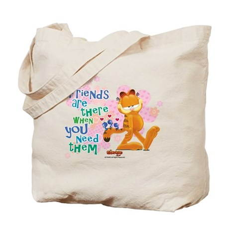"""""""Friends Are There"""" Garfield Tote Bag"""