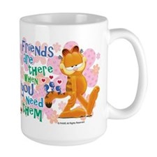 """Friends Are There"" Garfield Mug"