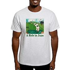 """A Hole in Juan"" Ash Grey T-Shirt"