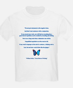 Great Rules of Writing Kids T-Shirt