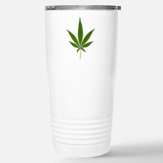 Marijuana Leaf Stainless Steel Travel Mug