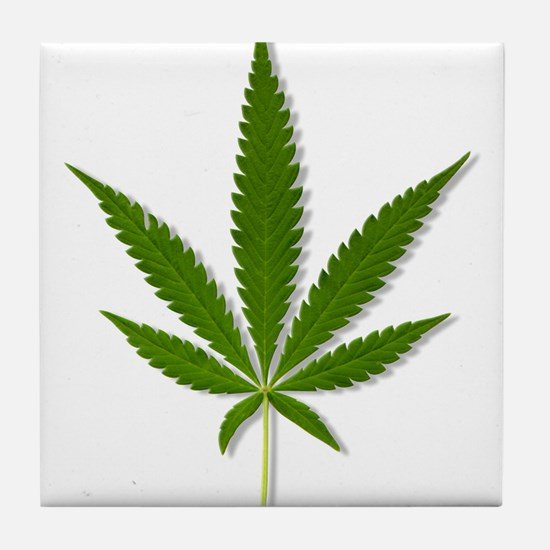 Marijuana Leaf Tile Coaster