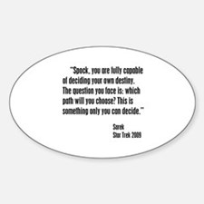 Sarek Destiny Quote Decal
