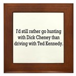 Hunting with Dick Cheney Framed Tile