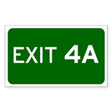 EXIT 4A Decal