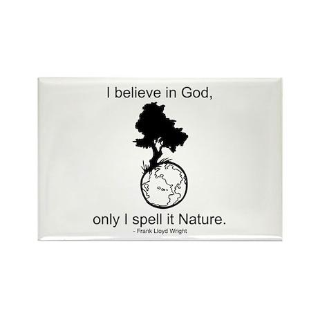 I believe in God... Rectangle Magnet (100 pack)