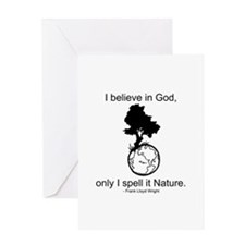 I believe in God... Greeting Card