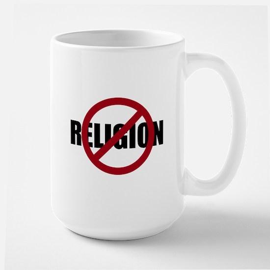 Anti-religion Large Mug