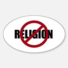 Anti-religion Sticker (Oval)