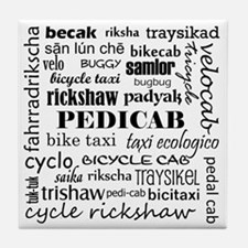 Pedicab Type Tile Coaster