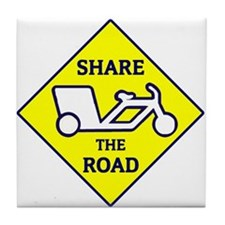 Share the Road Tile Coaster