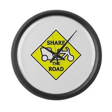 Share the Road Large Wall Clock